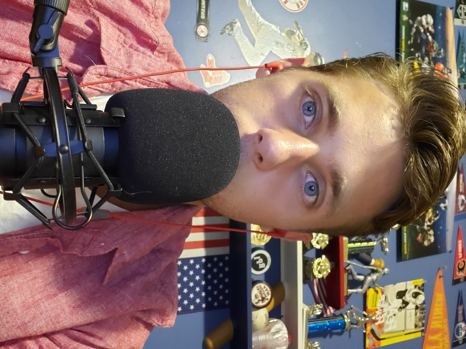 Me with my podcasting mic