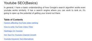 YouTube SEO(Basics)